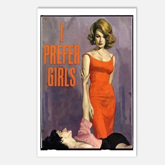 I PREFER GIRLS Postcards (Package of 8)