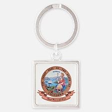 California Seal Square Keychain