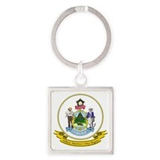 Maine Seal Square Keychain