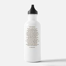 To My Valentine Ogden  Water Bottle