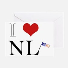 I Love NL with flag big Greeting Card