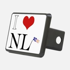 I Love NL with flag big Hitch Cover