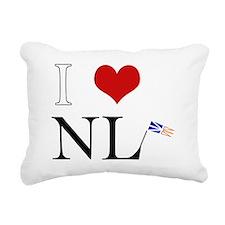 I Love NL with flag big Rectangular Canvas Pillow