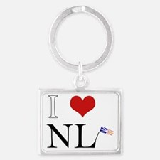 I Love NL with flag big Landscape Keychain