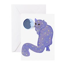 Night Cat Greeting Cards (Pk of 10)