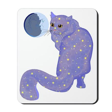 Night Cat Mousepad