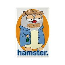 Drunk hamster Rectangle Magnet