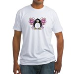 Pink Fairy Penguin Fitted T-Shirt