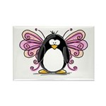 Pink Fairy Penguin Rectangle Magnet