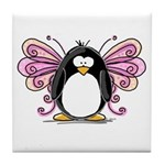 Pink Fairy Penguin Tile Coaster