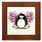 Pink Fairy Penguin Framed Tile