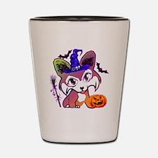 Halloween Corgi Shot Glass
