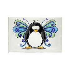 Blue Fairy Penguin Rectangle Magnet