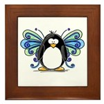Blue Fairy Penguin Framed Tile