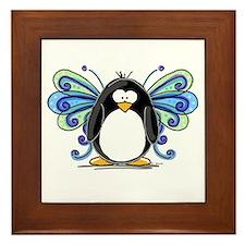 Blue Fairy Penguin Framed Tile