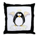 Angel Penguin Throw Pillow