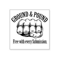 "GroundPound_01 Square Sticker 3"" x 3"""