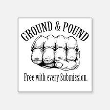 "GroundPound_01 Square Sticker 3"" x 3"""
