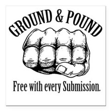 "GroundPound_01 Square Car Magnet 3"" x 3"""