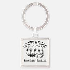 GroundPound_01 Square Keychain