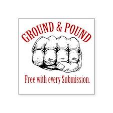 "GroundPound_02 Square Sticker 3"" x 3"""