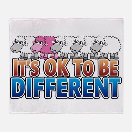 its-ok-to-beANIMALS_pinksheep.png Throw Blanket