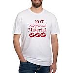 Not girlfriend... Fitted T-Shirt