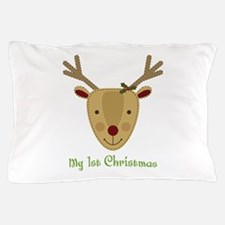 1st Christmas Reindeer Pillow Case
