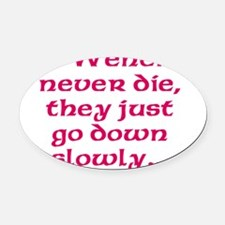 Old Wenches Oval Car Magnet