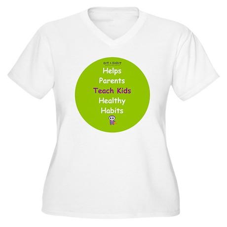 Sticker Star Women's Plus Size V-Neck T-Shirt
