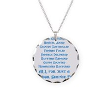 Service Fee Necklace