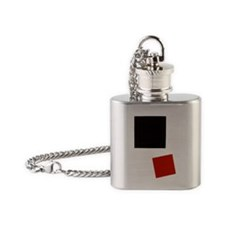 Malevich-square-2 Flask Necklace