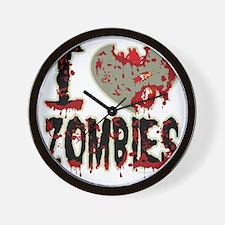 I-Heart-Zombies Wall Clock
