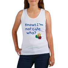 Knows Im not cute wha large Women's Tank Top