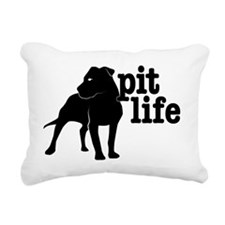 Pit Life Rectangular Canvas Pillow