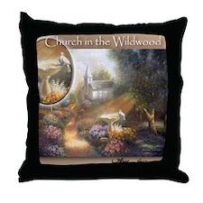 """Church in the Wildwood"" Fine Art Throw Pillow"