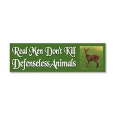 Real Men Dont Hunt - Car Magnet 10 x 3