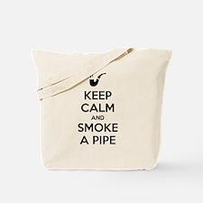 Keep Calm and Smoke a Pipe Tote Bag