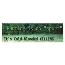antihunting.png Bumper Bumper Stickers