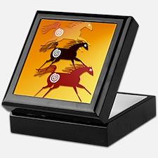 Three Ancient Horses 11x8 Keepsake Box