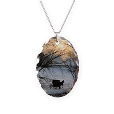 Winter Amish Sunset Necklace