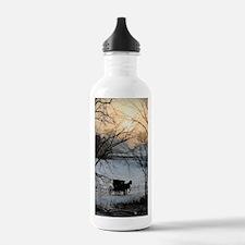 Winter Amish Sunset Water Bottle