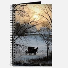 Winter Amish Sunset Journal