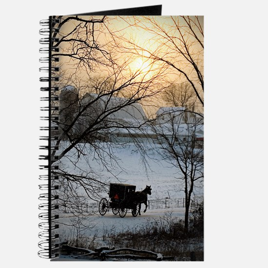 Winter Amish Sunset Journal