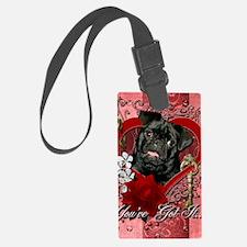 Valentine_Red_Rose_Pug_Ruffy Luggage Tag