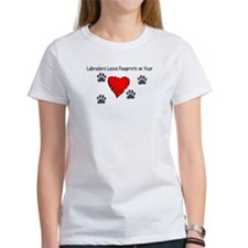 Labradors leave pawprints on your heart shir T-Shi