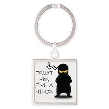 trust me ninja Square Keychain