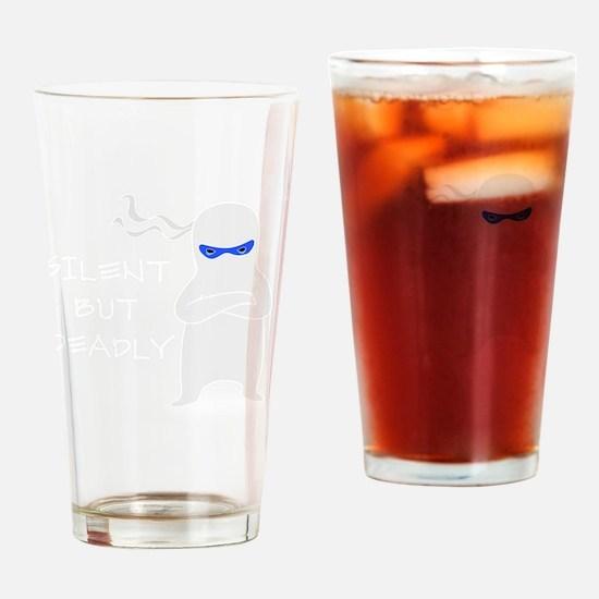 silent ninja dark Drinking Glass