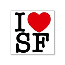 "sf_v Square Sticker 3"" x 3"""