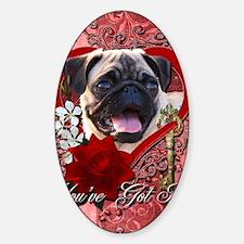 Valentine_Red_Rose_Pug Decal